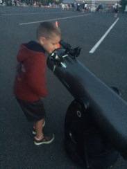 The local astronomer enthusiasts were very nice and helpful with the kids!